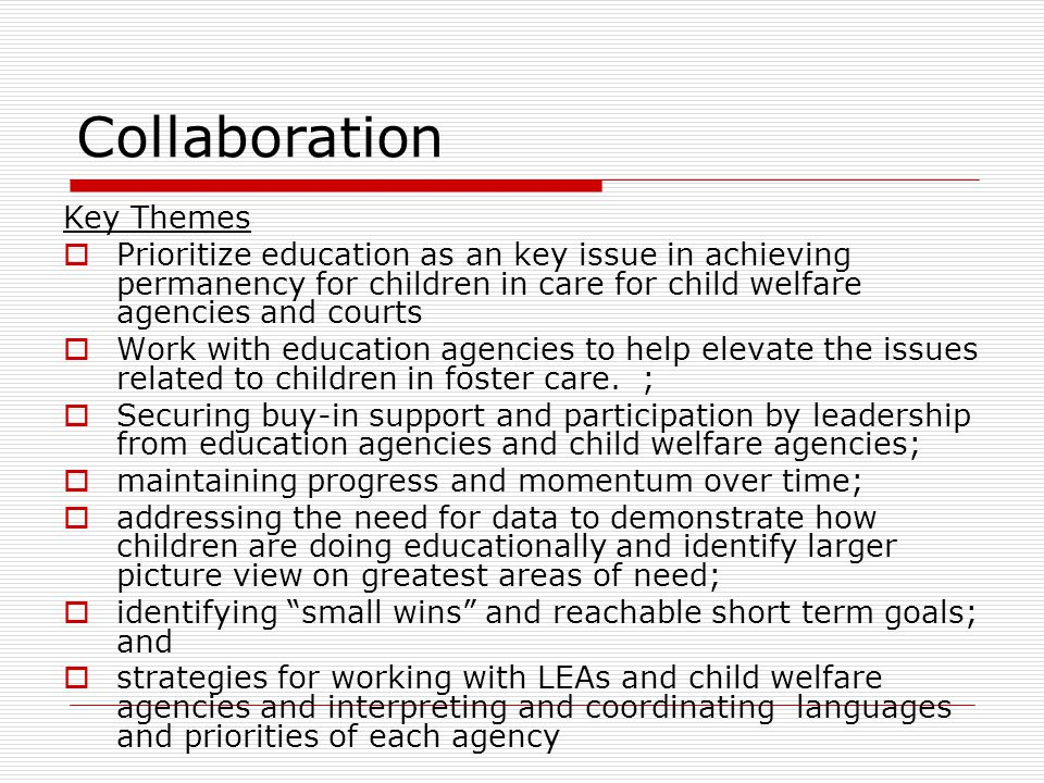 Collaboration Key Themes