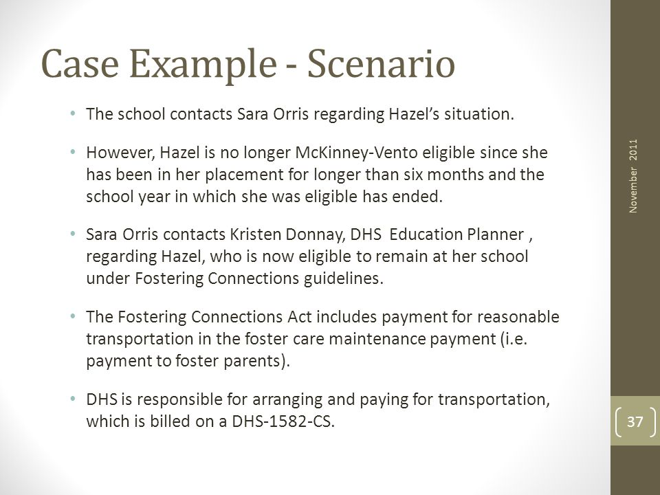 Case Example - Scenario