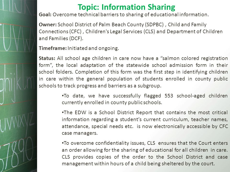 Topic: Information Sharing