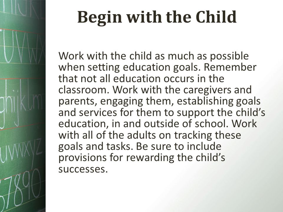 Begin with the Child