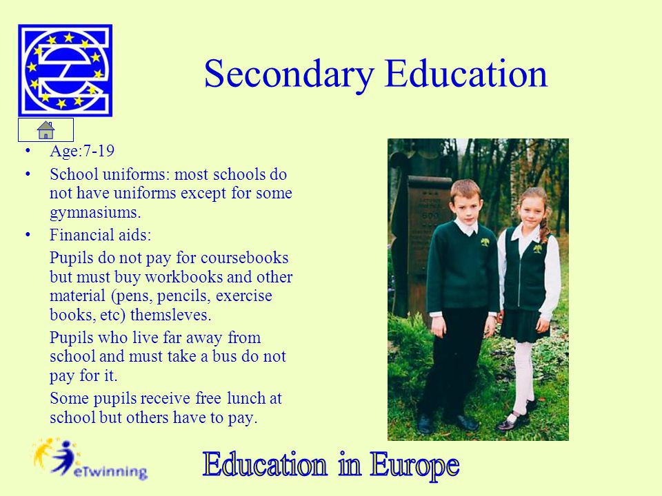 Secondary Education Age:7-19