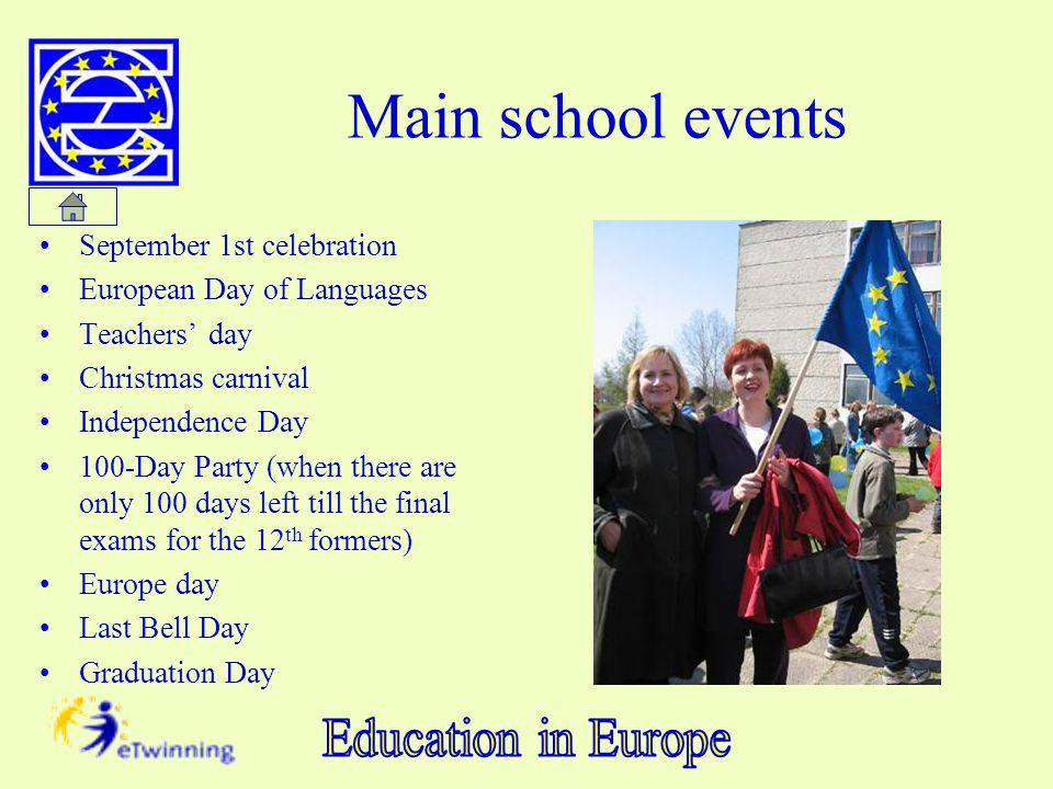 Main school events September 1st celebration European Day of Languages