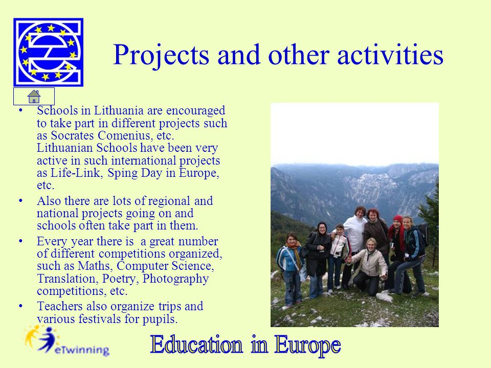 Projects and other activities