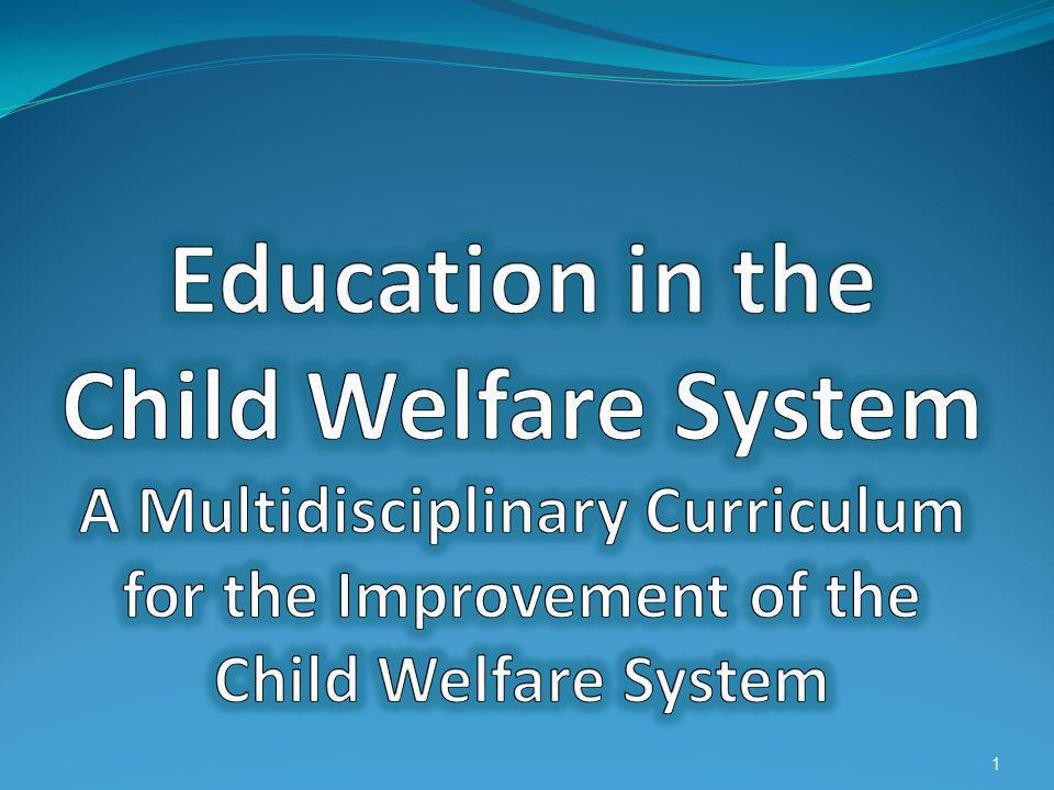 Education in the Child Welfare System A Multidisciplinary Curriculum for the Improvement of the Child Welfare System
