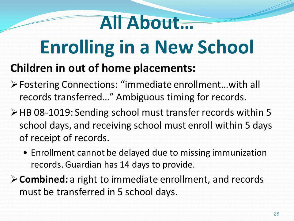 All About… Enrolling in a New School