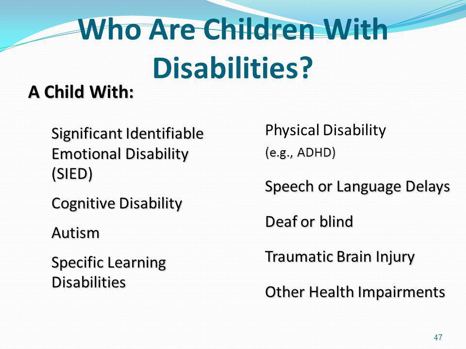 Who Are Children With Disabilities