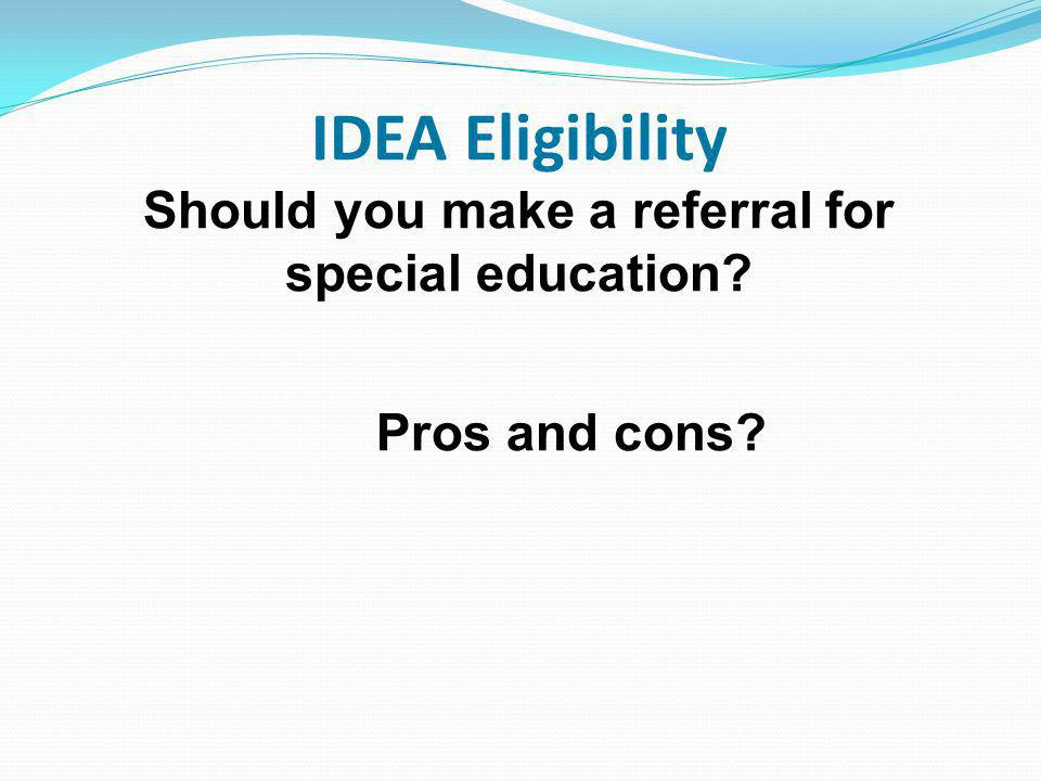 Should you make a referral for special education