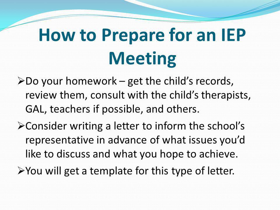 How to Prepare for an IEP Meeting
