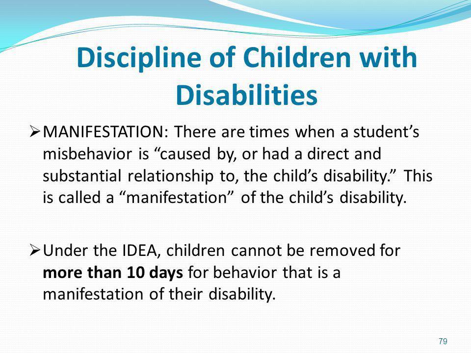 Discipline of Children with Disabilities