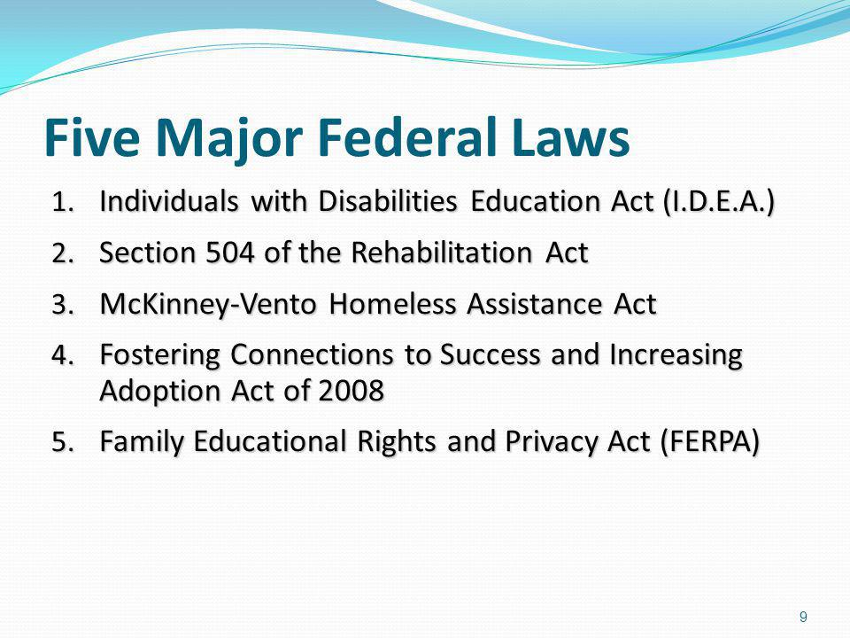 Five Major Federal Laws