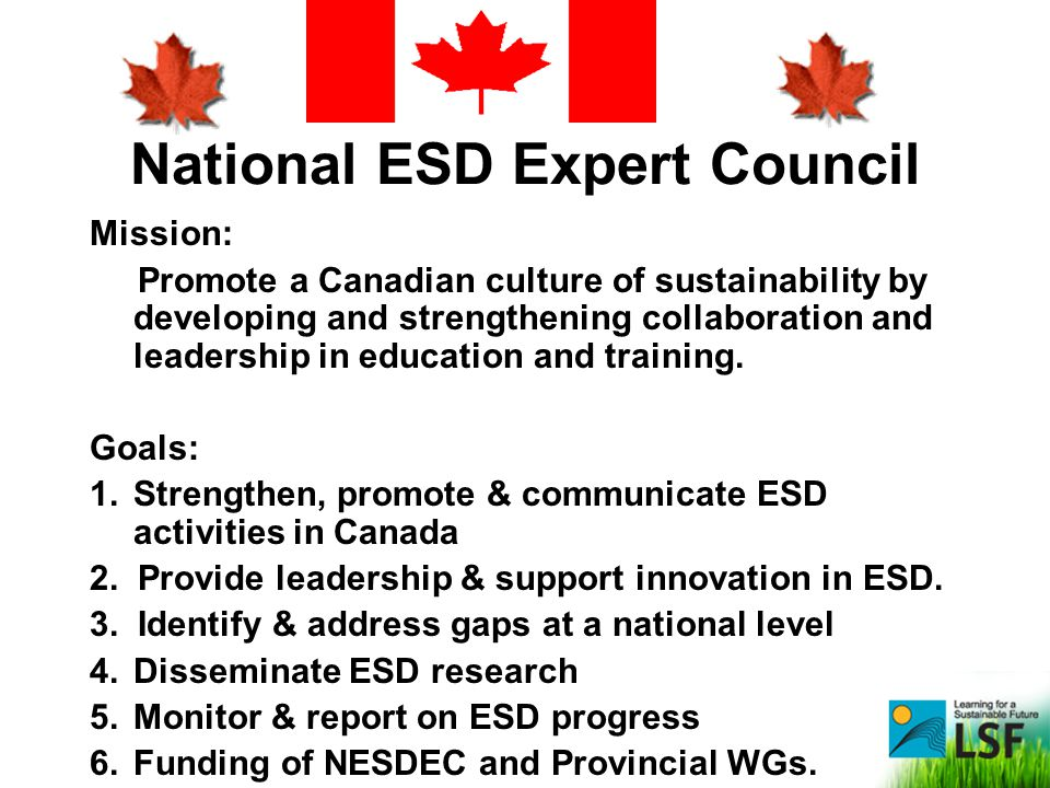 National ESD Expert Council