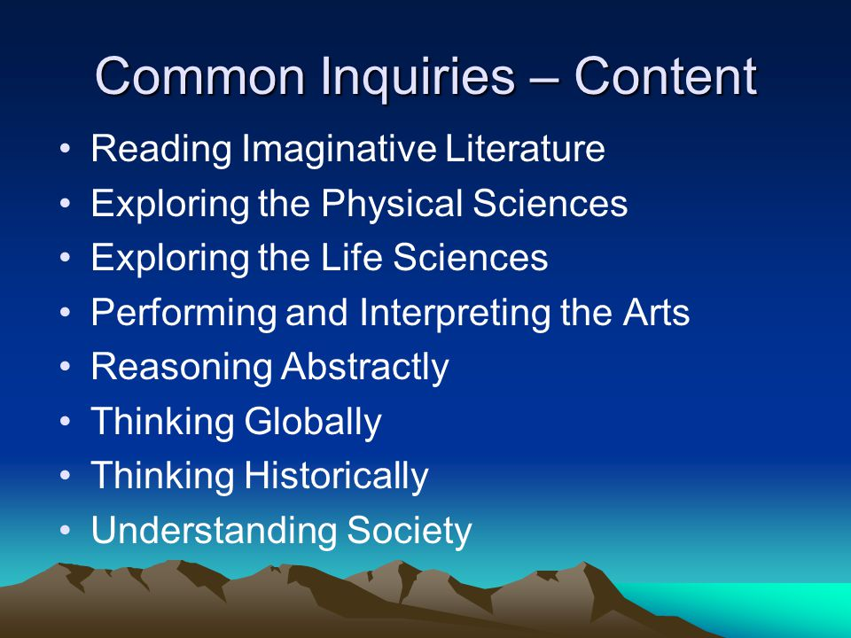 Common Inquiries – Content
