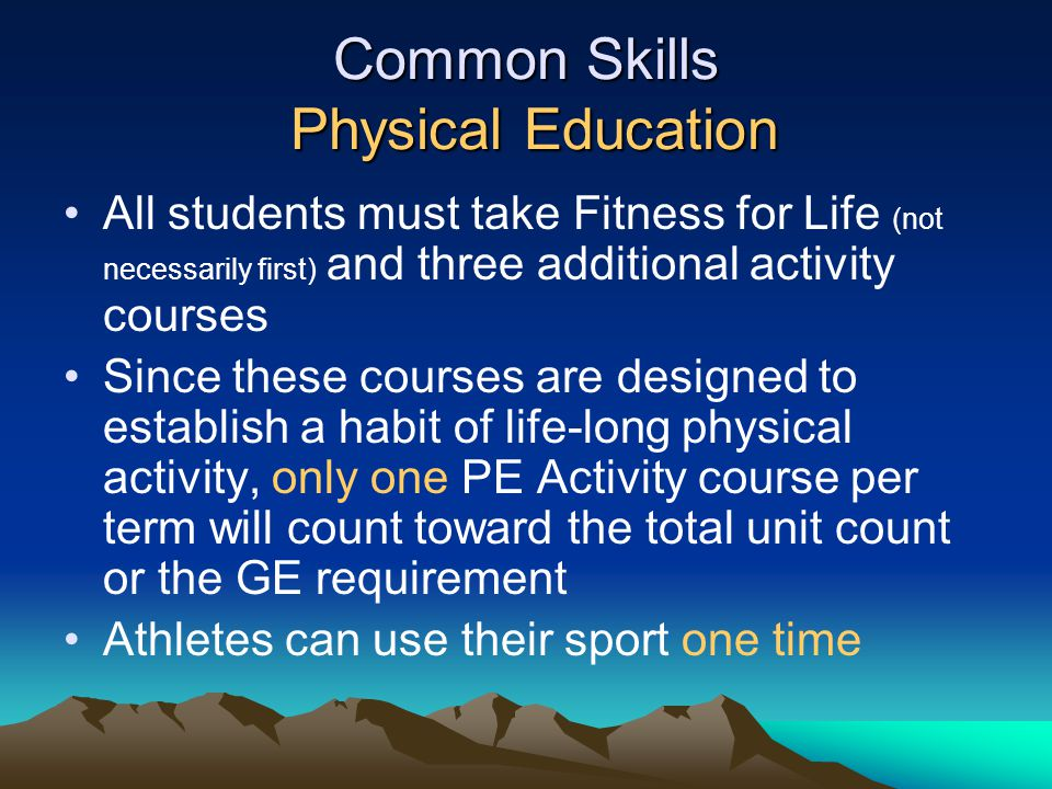 Common Skills Physical Education