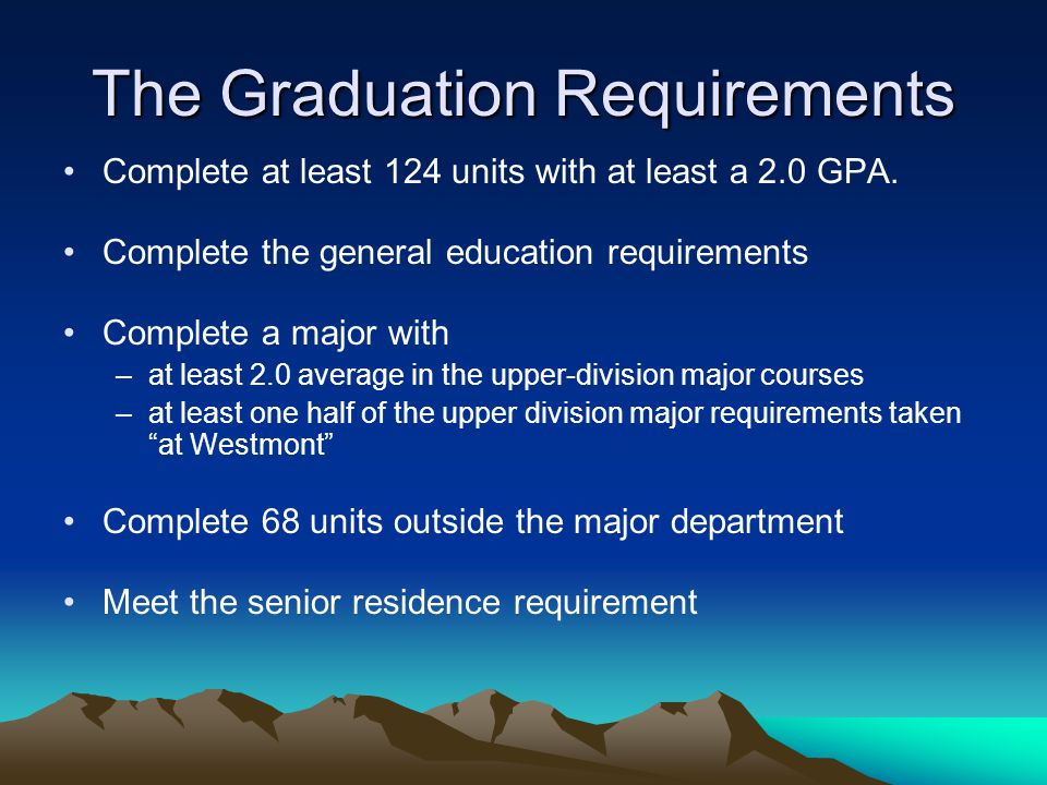 The Graduation Requirements
