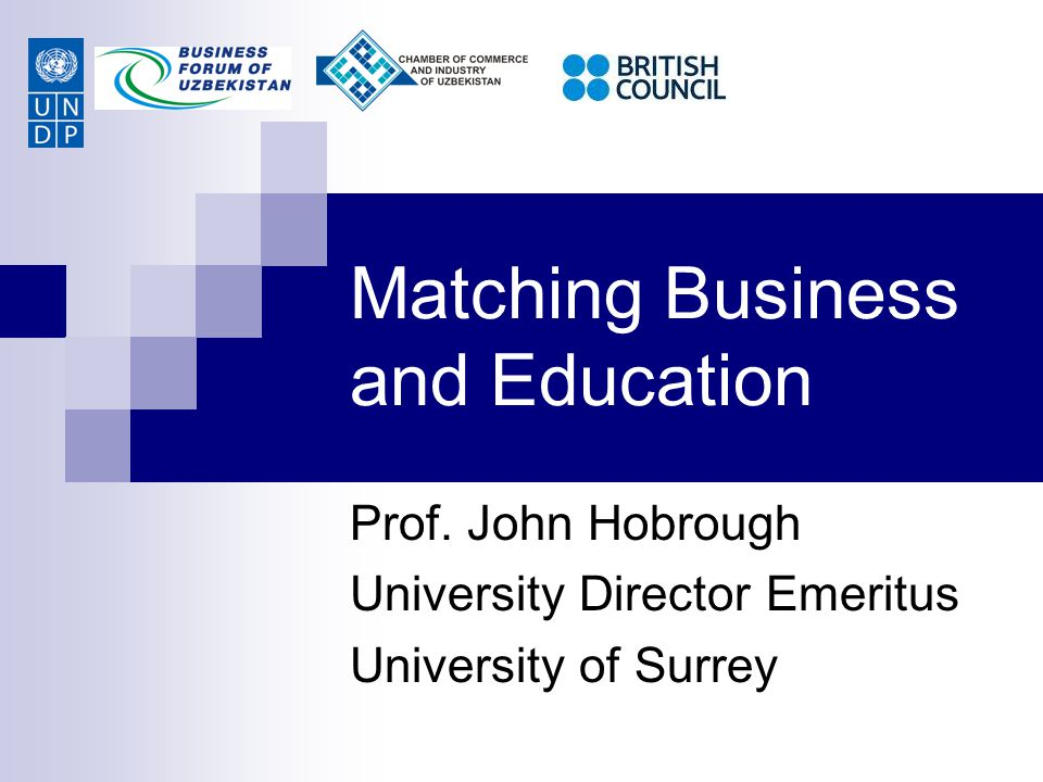 Matching Business and Education