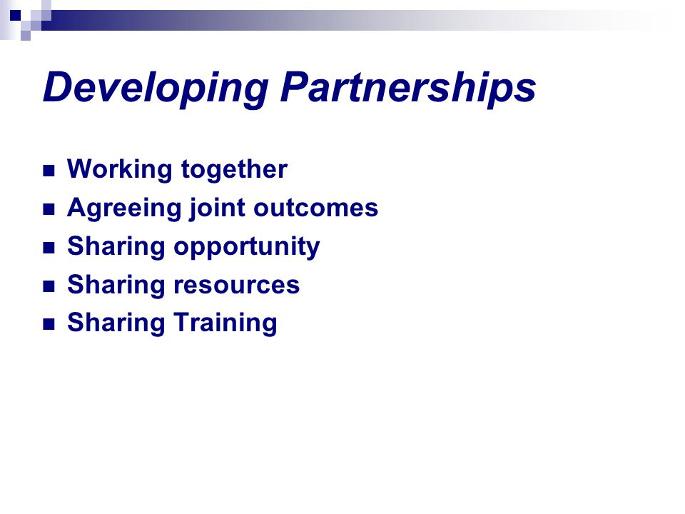 Developing Partnerships