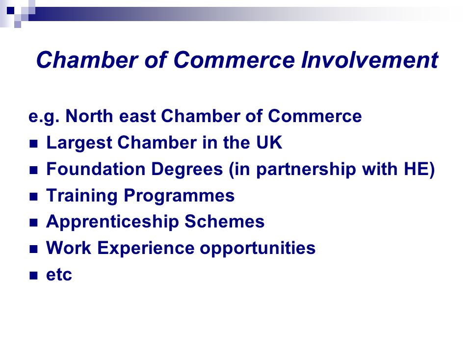 Chamber of Commerce Involvement