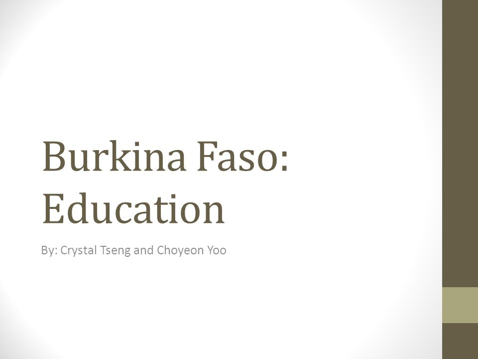 Burkina Faso: Education