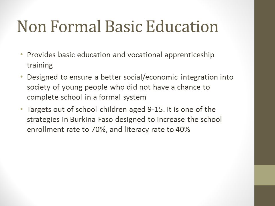 Non Formal Basic Education