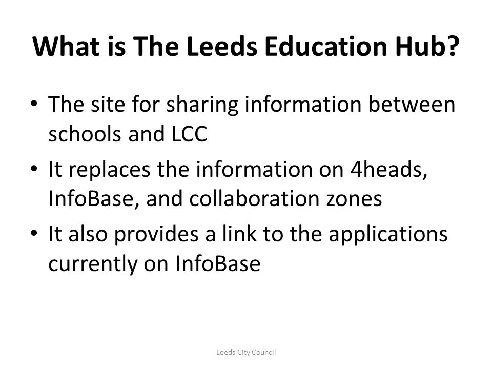 What is The Leeds Education Hub