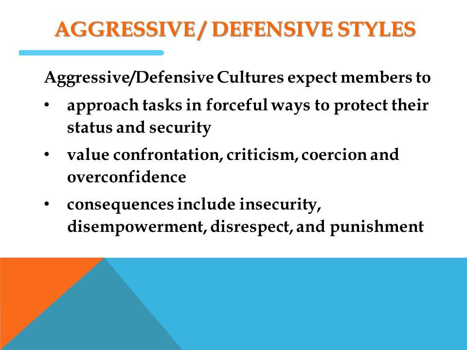 Aggressive / defensive styles