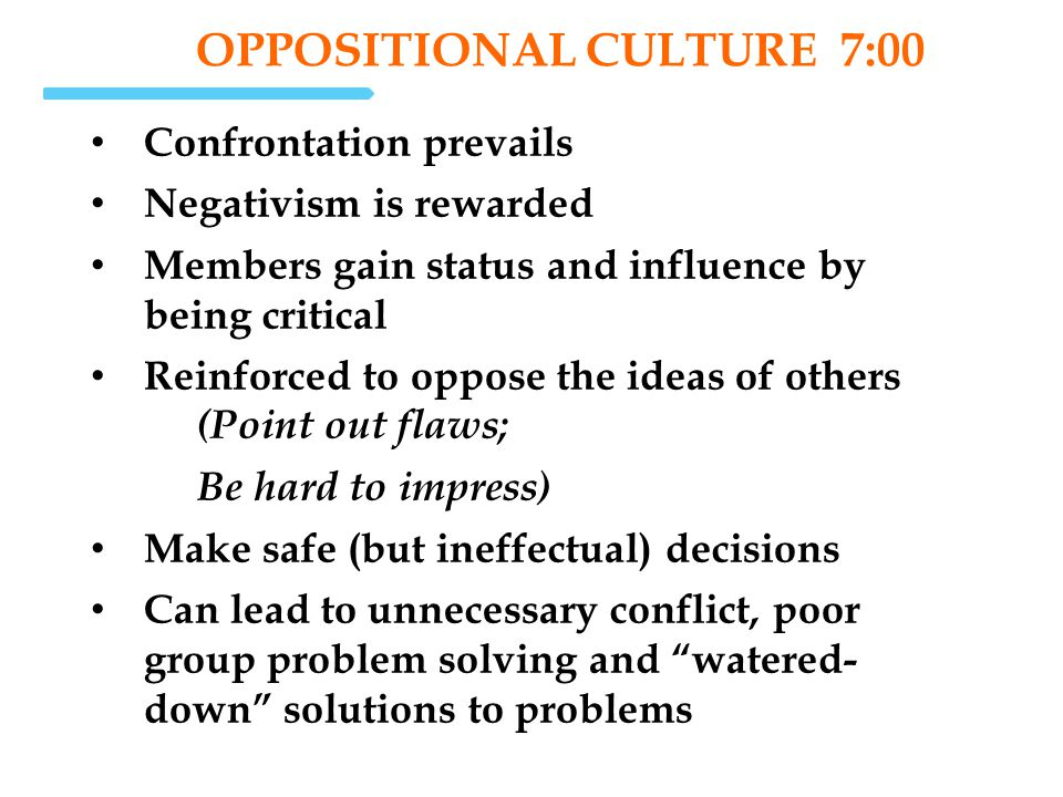 OPPOSITIONAL Culture 7:00