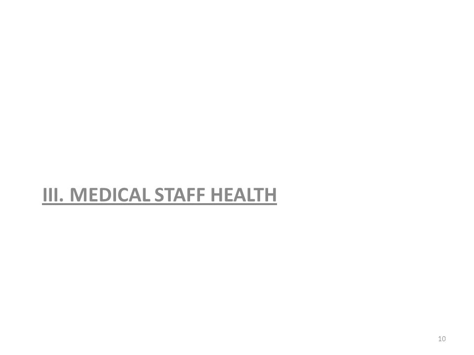 III. MEDICAL STAFF HEALTH