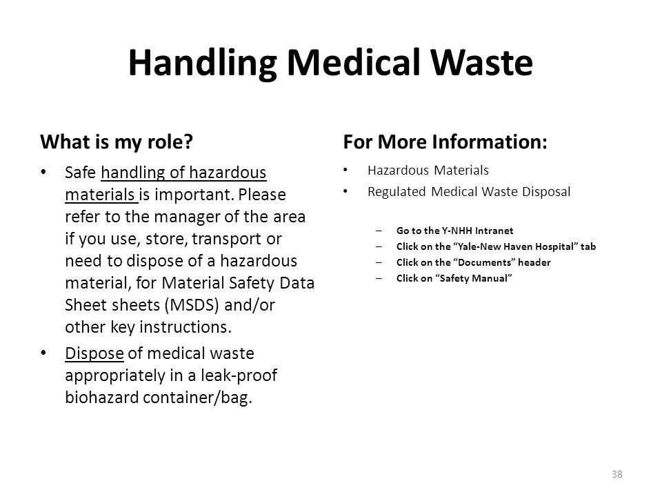 Handling Medical Waste