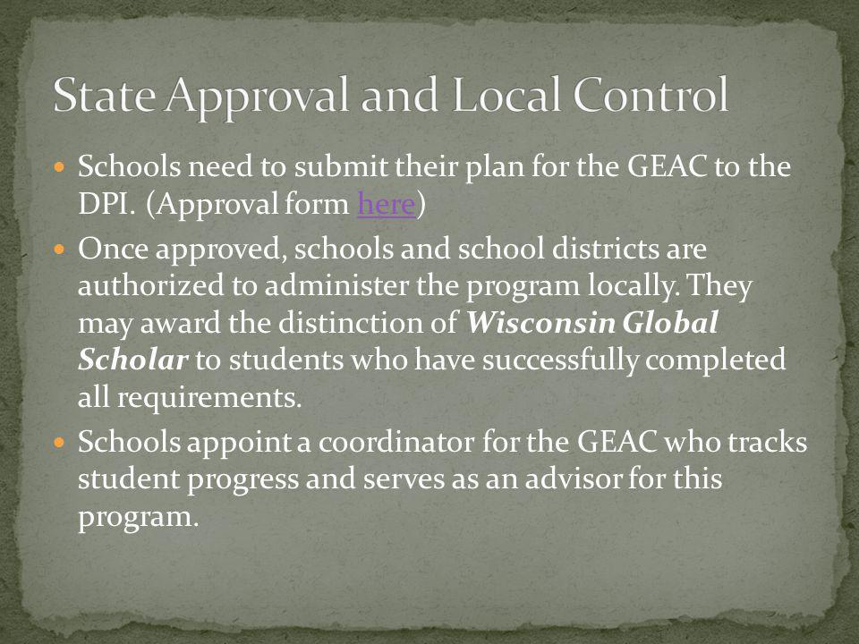 State Approval and Local Control