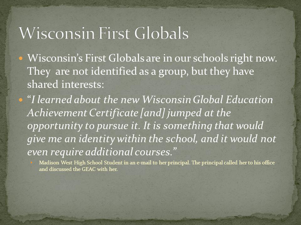 Wisconsin First Globals