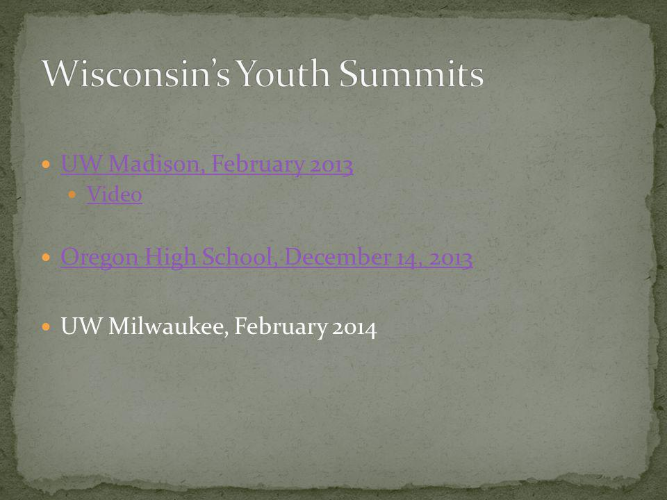 Wisconsin's Youth Summits