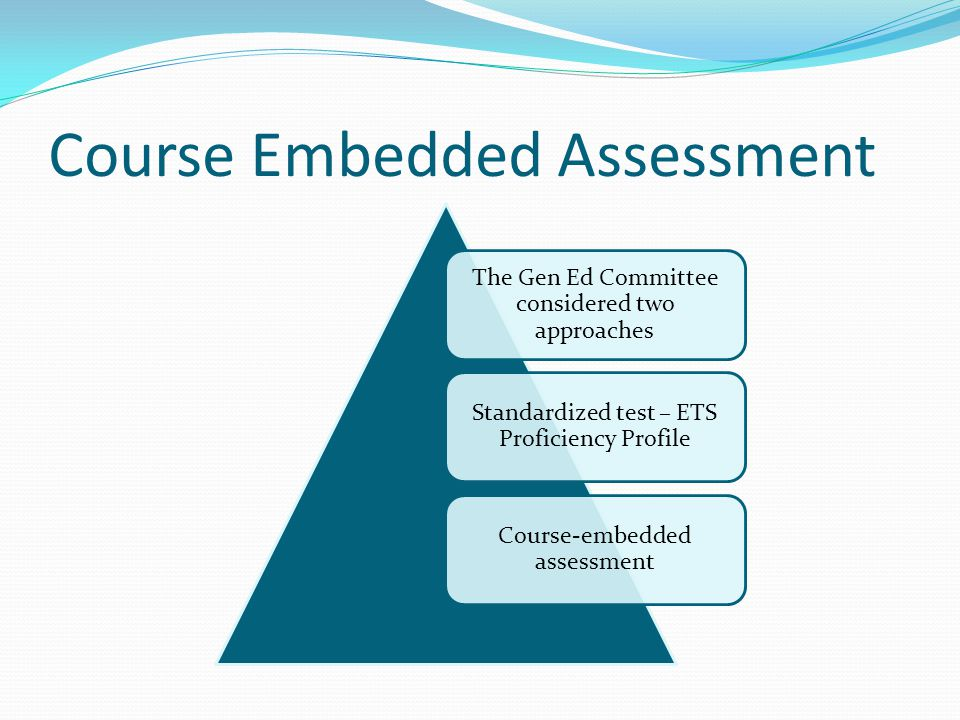 Course Embedded Assessment