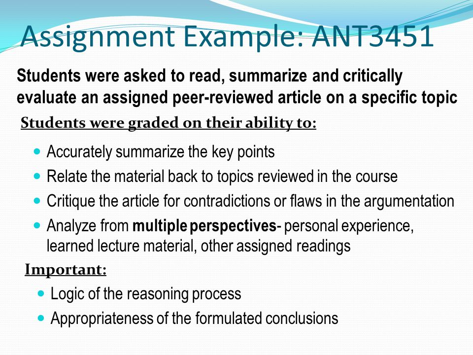 Assignment Example: ANT3451