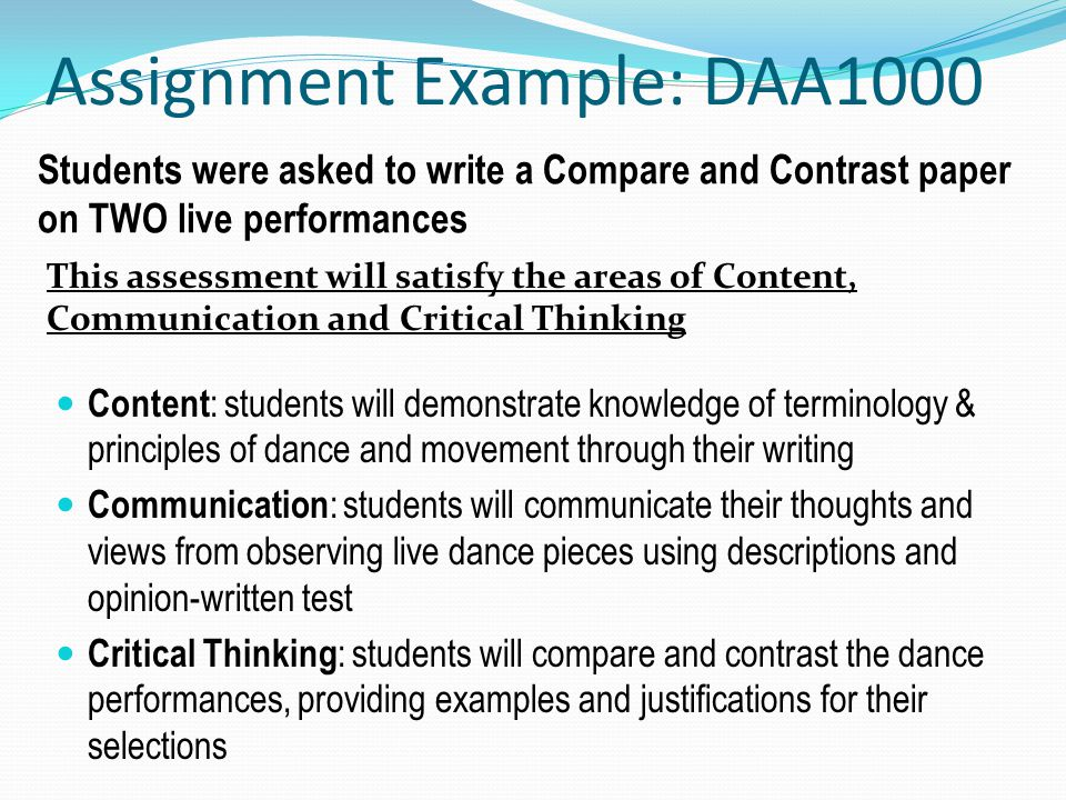 Assignment Example: DAA1000