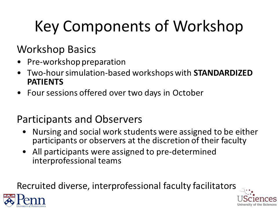 Key Components of Workshop
