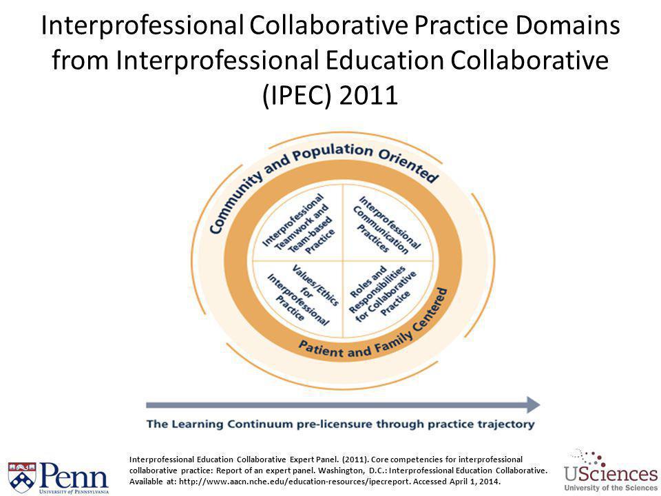 Interprofessional Collaborative Practice Domains from Interprofessional Education Collaborative (IPEC) 2011