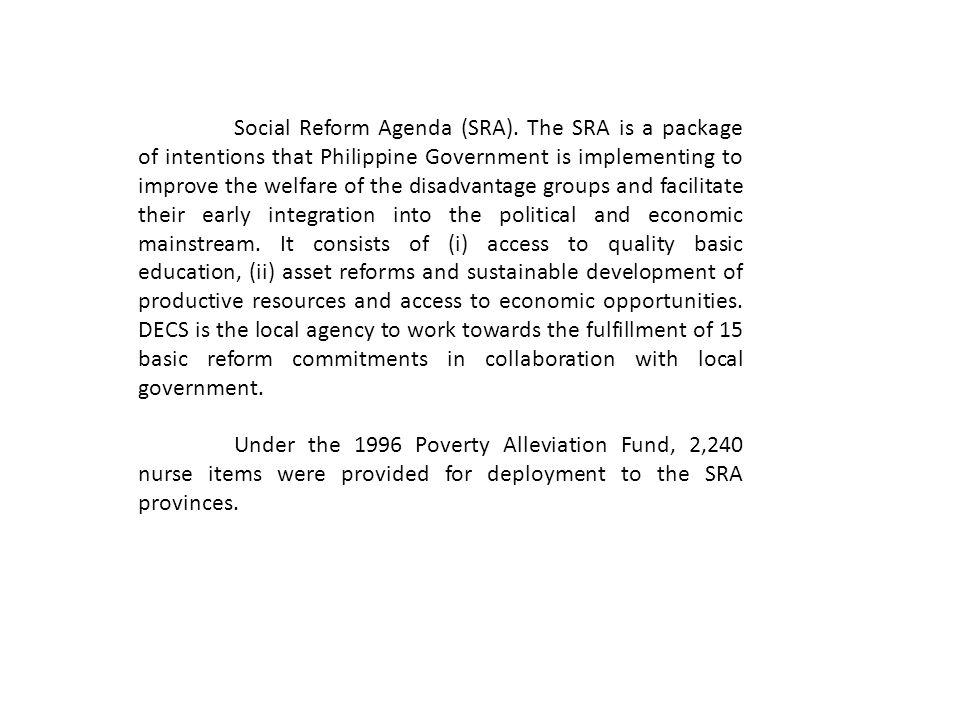 Social Reform Agenda (SRA)