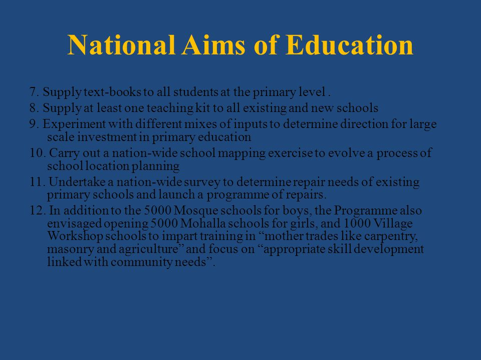 National Aims of Education