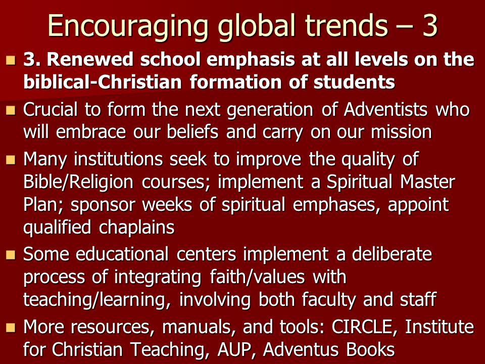 Encouraging global trends – 3