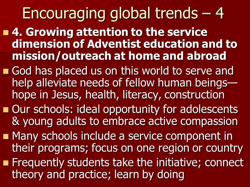 Encouraging global trends – 4