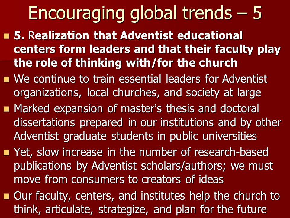 Encouraging global trends – 5