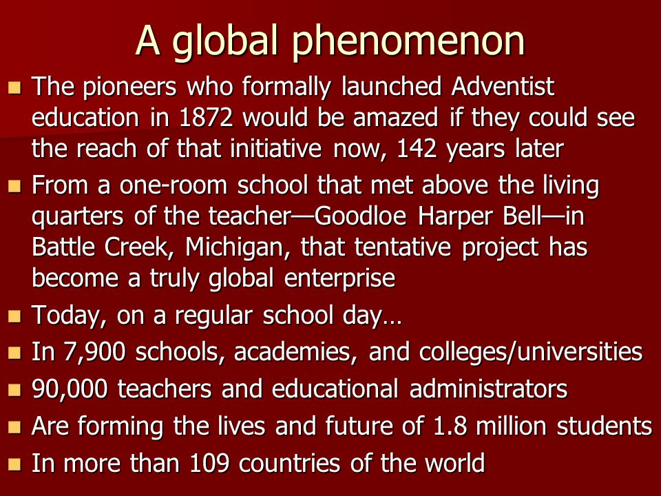 A global phenomenon