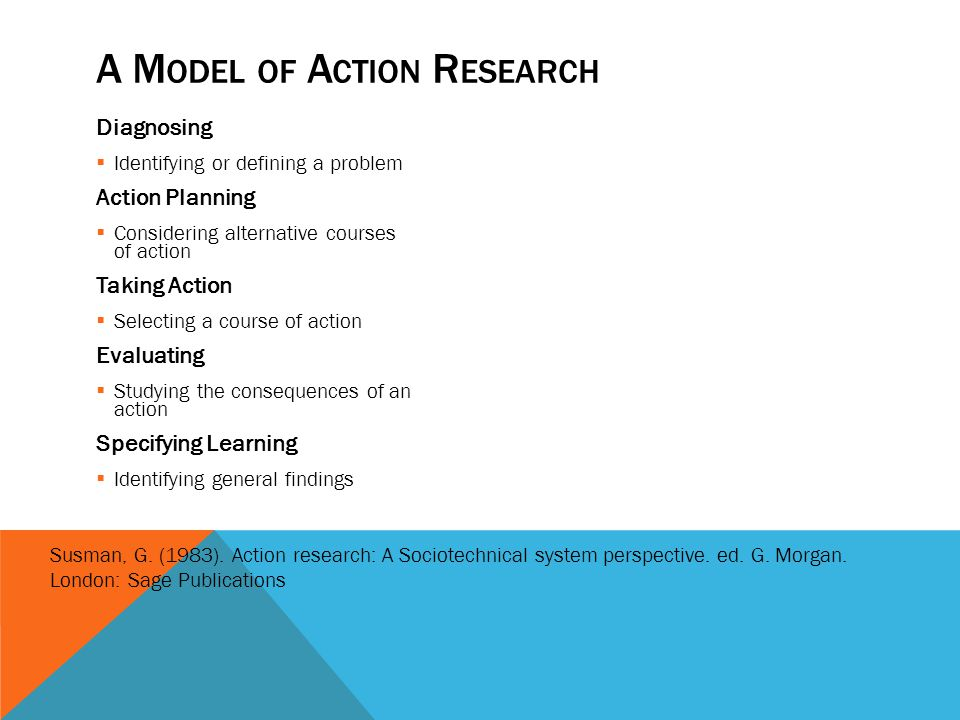 A Model of Action Research