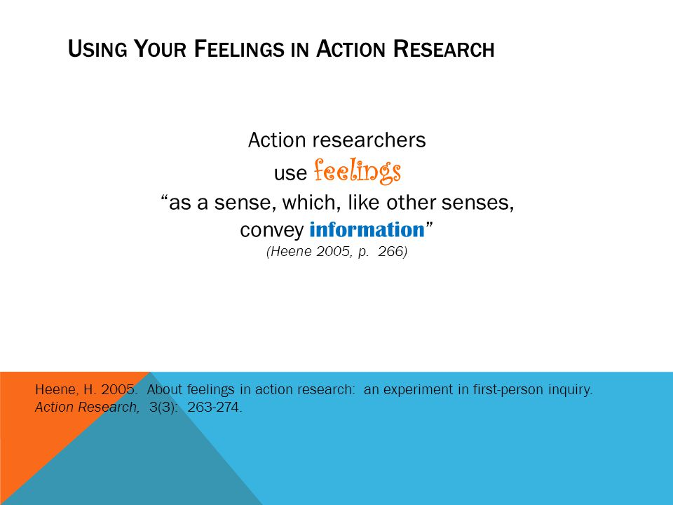 Using Your Feelings in Action Research