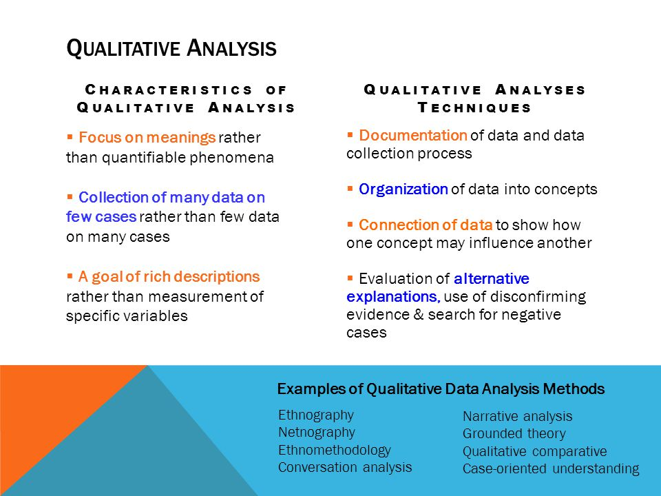 Characteristics of Qualitative Analysis