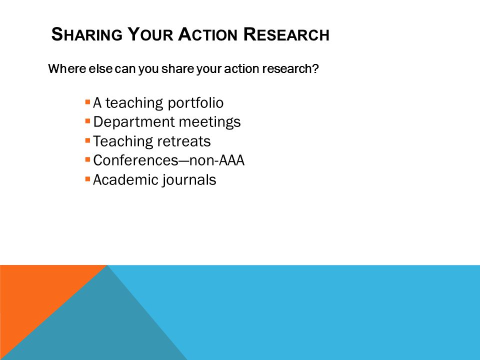 Sharing Your Action Research