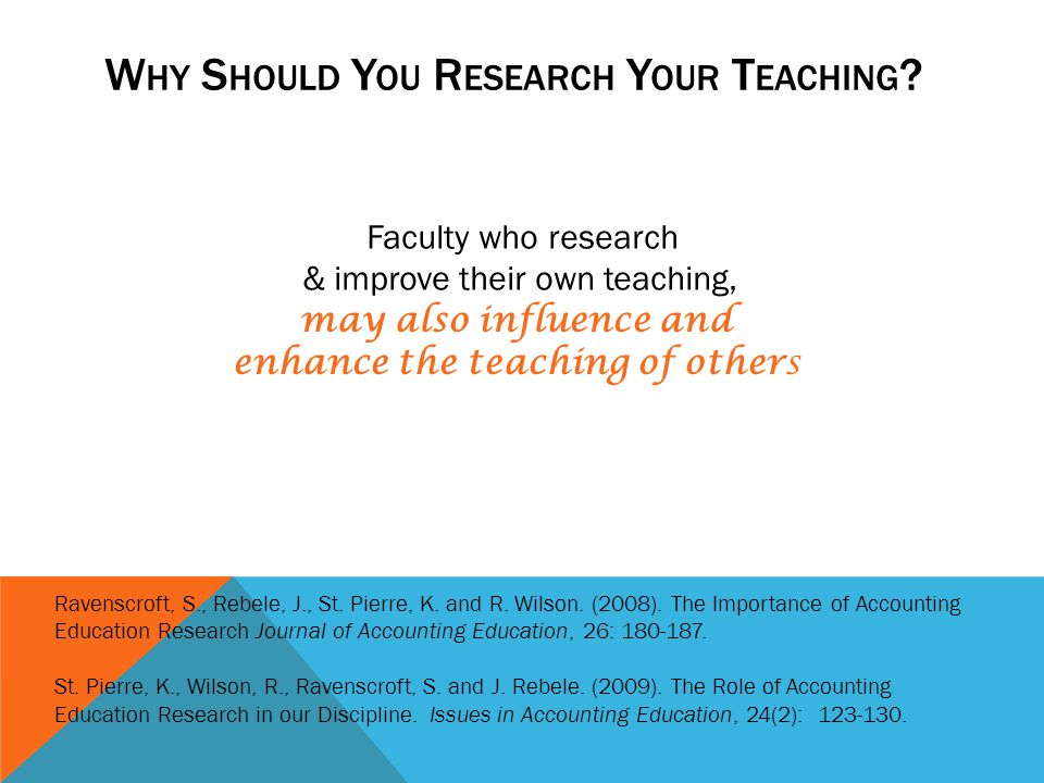 Why Should You Research Your Teaching