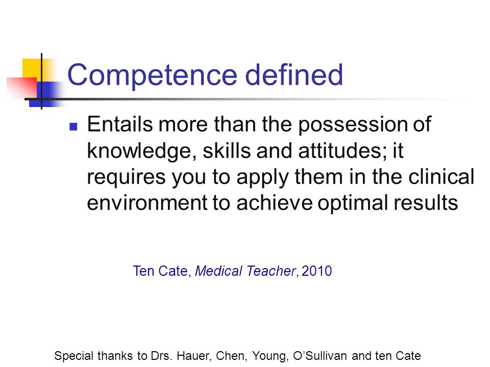 Competence defined