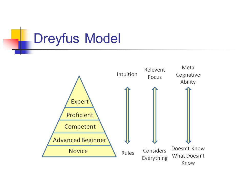Dreyfus Model Dreyfus Model of Skill Acquisition (2004)