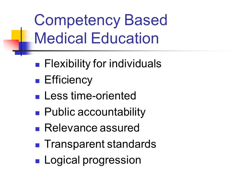Competency Based Medical Education